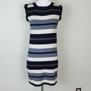 MaxMara weekend stripe dress silk wool blend xs